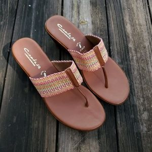 Italian Shoemakers Wedge Sandal